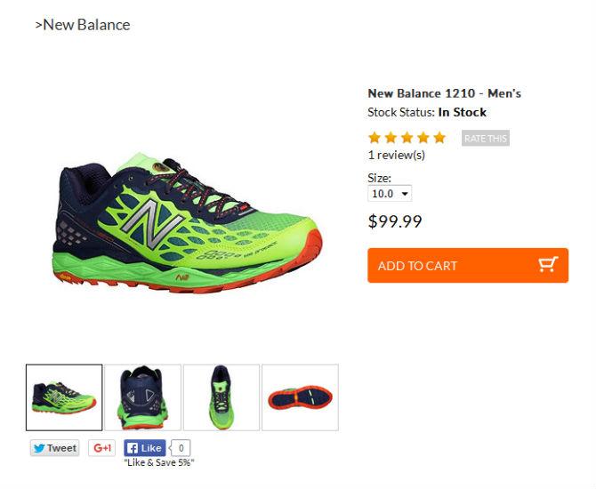 New Balance Product Images