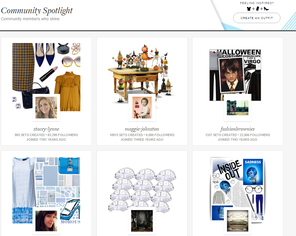 Image of user content Polyvore website