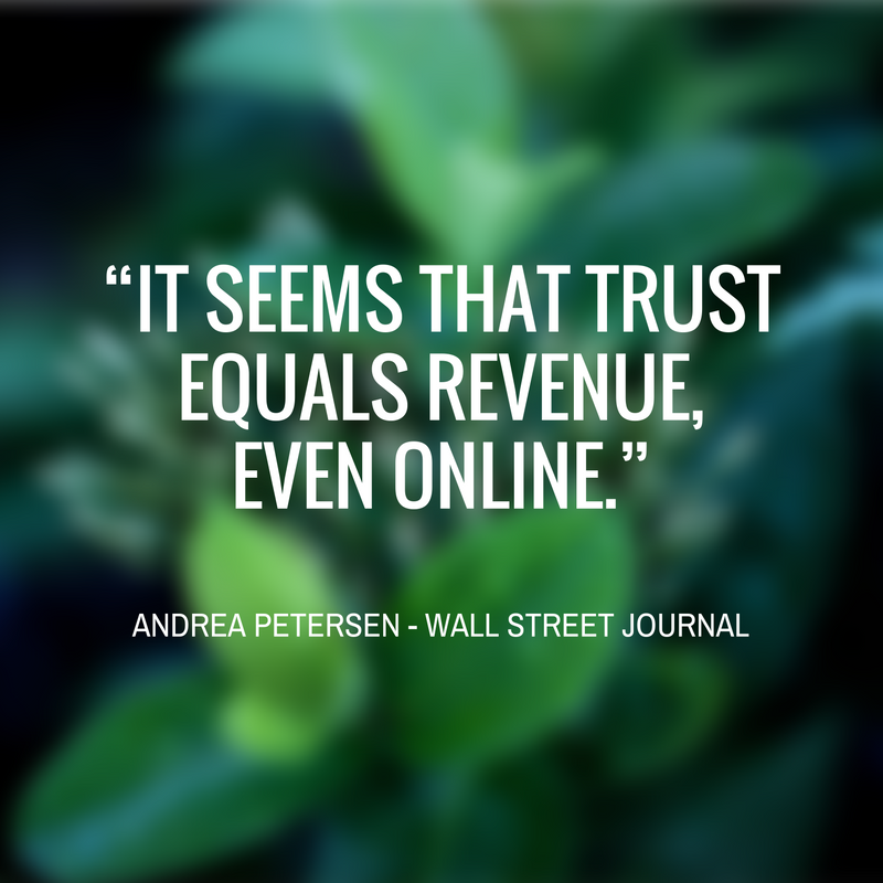 Andrea Peterson Trust Quote