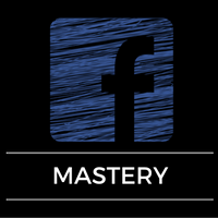 Image of facebook logo with the words Mastery underneath