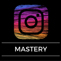 Image of Instagram logo with the words mastery underneath