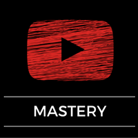 Youtube logo with the words mastery underneath
