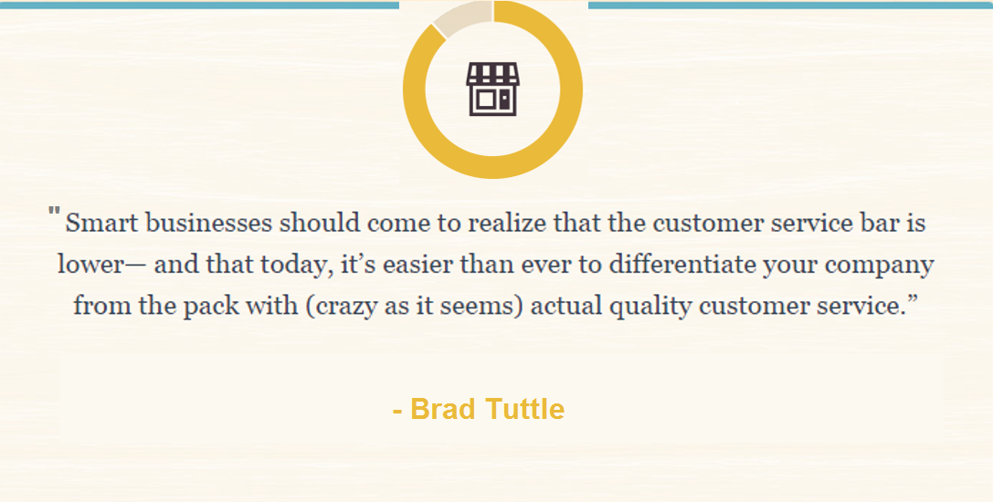 Brad Tuttle quote about quality customer service