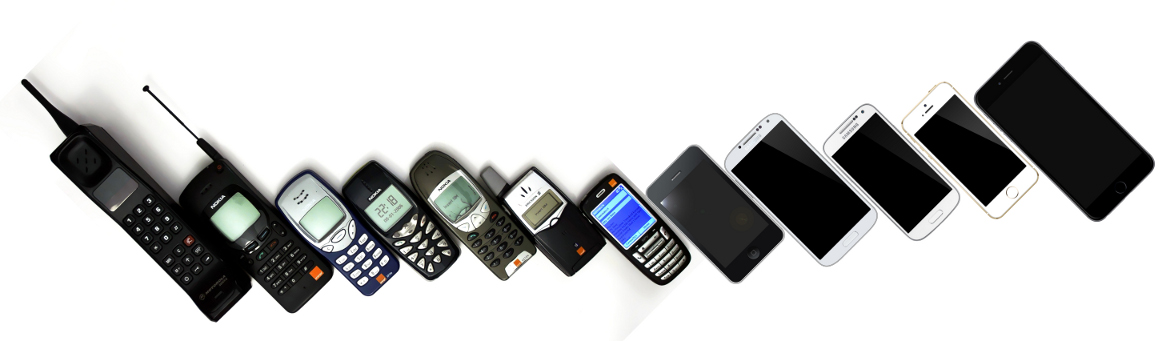 changes in form and function of mobile phones over time