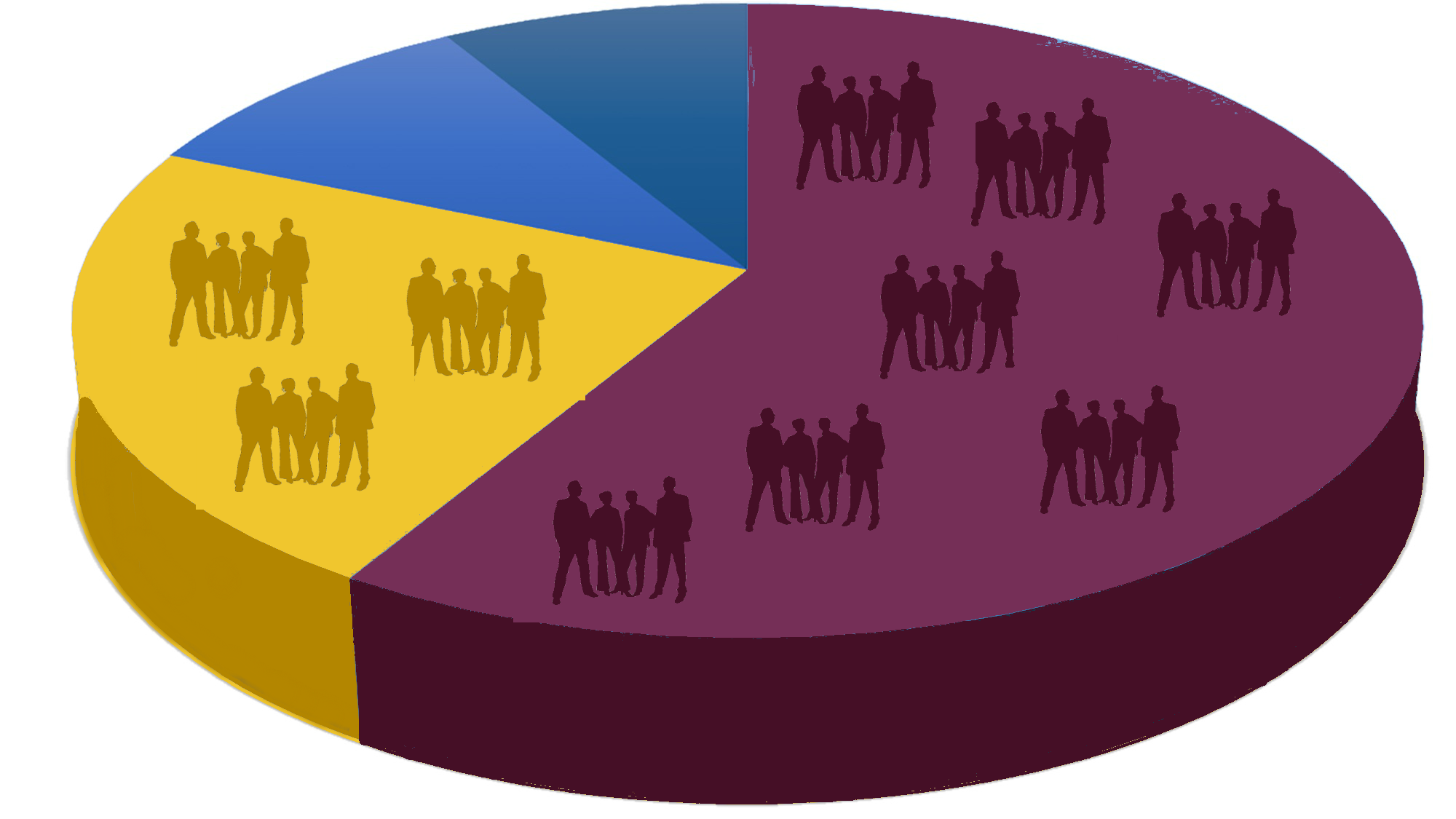 Pie chart depicting market share