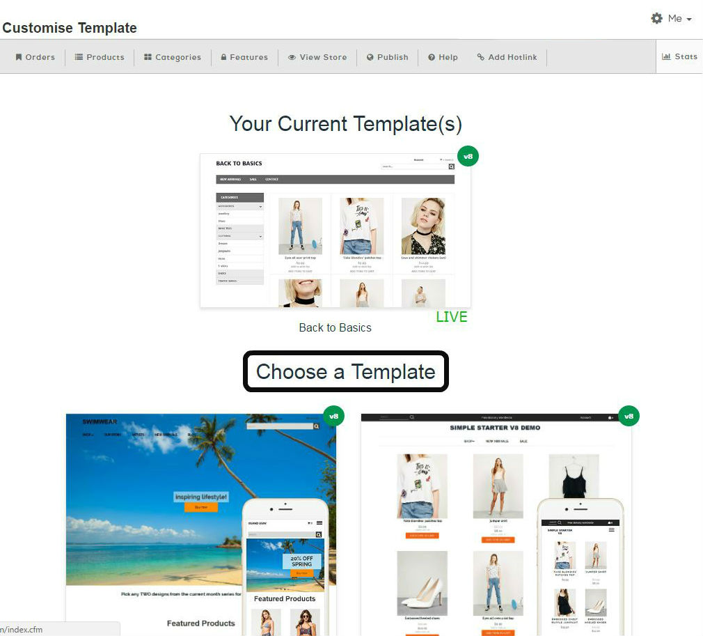 Cool templates for your start up ecommerce