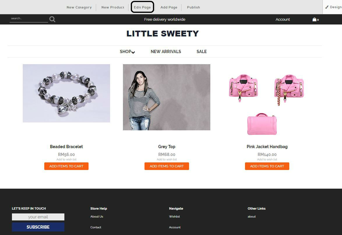 editing your ecommerce page malaysia