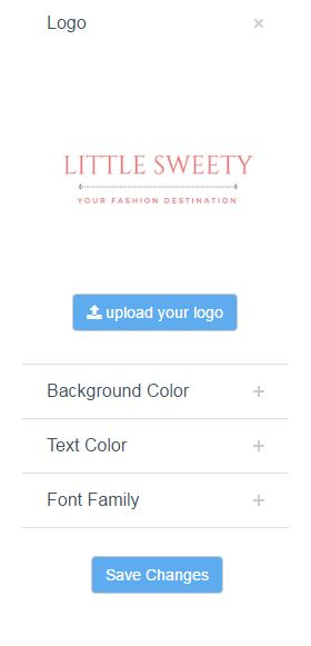 uploading your logo onto your ecommerce page