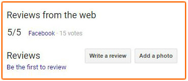 Get Reviews on Google to appear on Search Results page