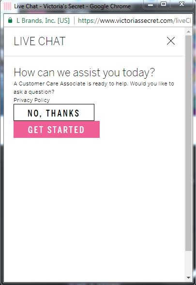 Example of a live chat feature on a website